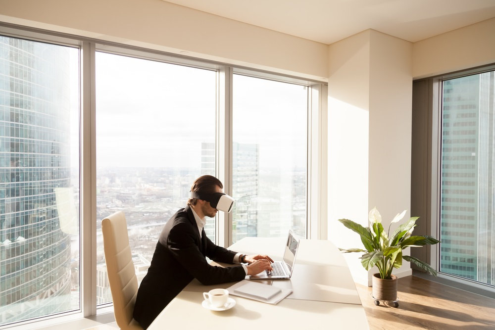 Architect using VR to work